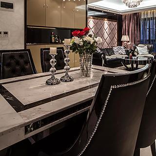 新古典两居室公寓装修餐桌椅图片