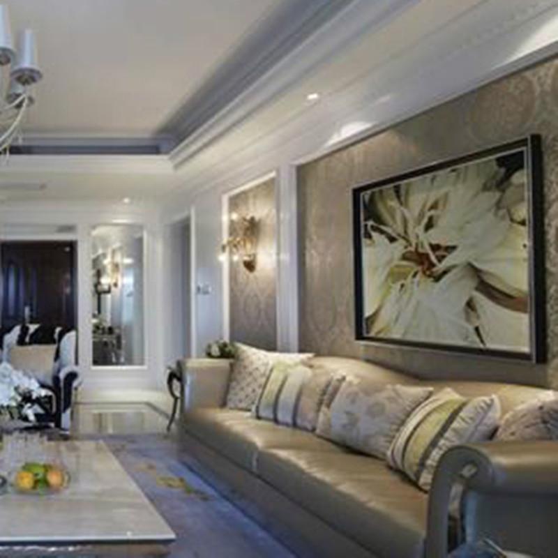 140㎡欧式装修沙发背景墙图片