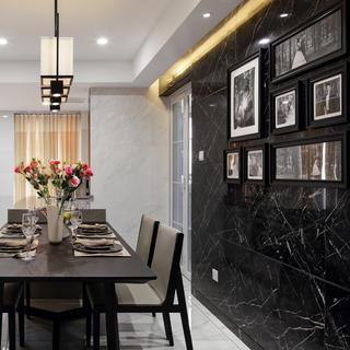 160平现代简约装修餐厅背景墙图片