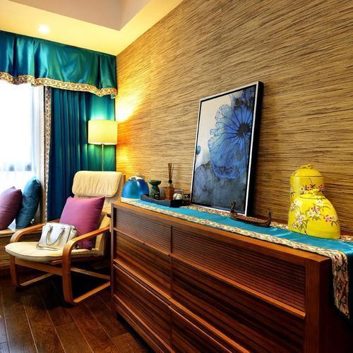 东南亚风格三居卧室一角
