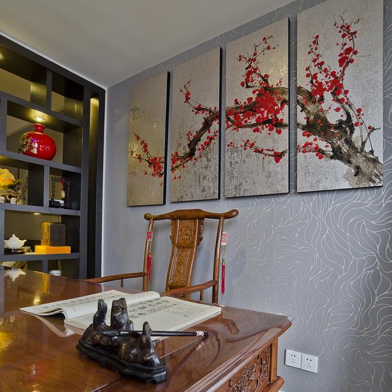 现代中式复式装修装饰画欣赏