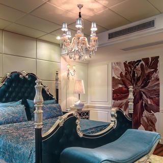 新古典别墅装修床头软包设计