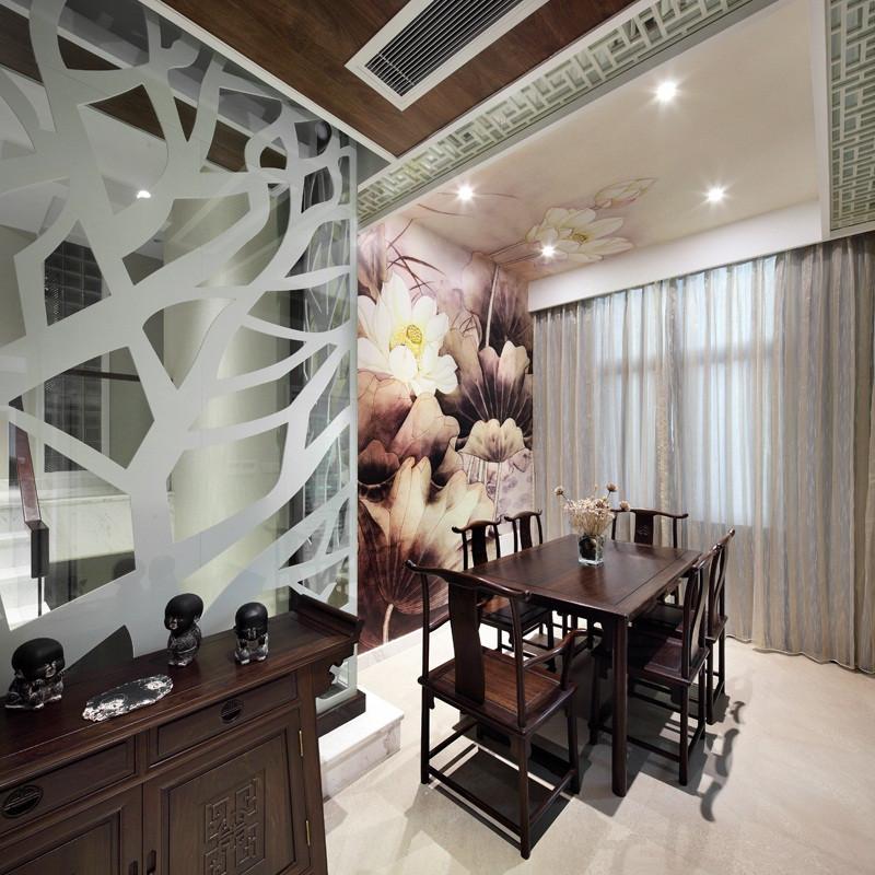现代中式三居装修餐厅效果图