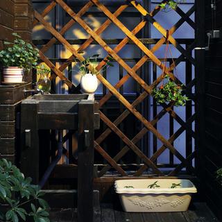 现代中式三居装修玄关小景