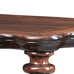 华师傅散装框架结构核桃木移动长方形欧式-餐桌