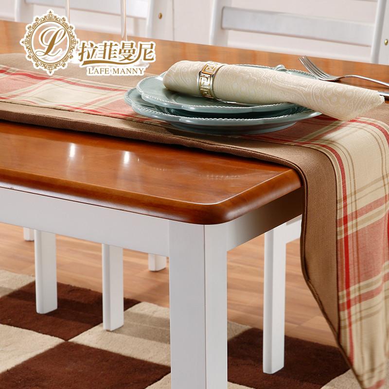 拉菲曼尼 组装支架结构橡木长方形地中海 餐桌
