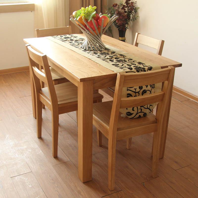 佳佰庭散装橡木正方形北欧宜家餐桌