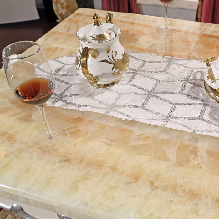 法姿彤长餐桌组装支架结构橡木长方形欧式餐桌