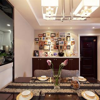 120平现代简约之家照片墙布置