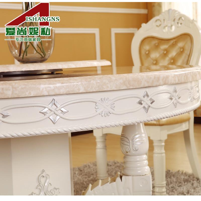 爱尚妮私组装框架结构圆形欧式餐桌