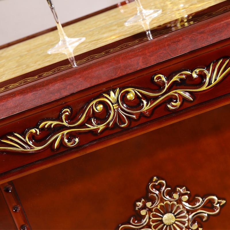 丽诺威轩组装大理石支架结构橡木旋转艺术长方形欧式餐桌