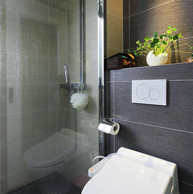 120平现代简约之家卫生间装修效果图