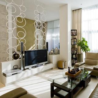现代简约复式亚博唯一授权官网电视背景墙设计