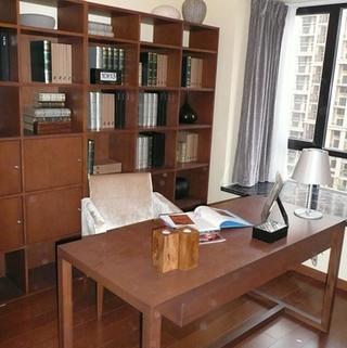 80平新中式两居书房装修效果图