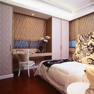 100平三居室装修卧室设计图