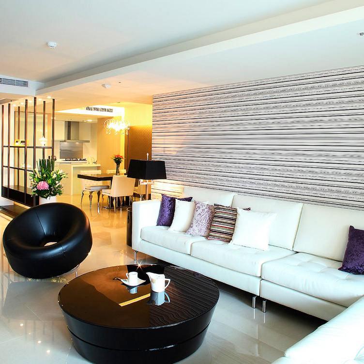 现代简约大户型装修沙发背景墙图片