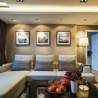 120平现代简约两居装修设计图