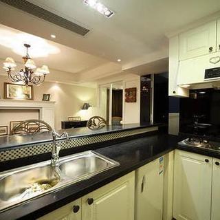 60平小户型美式装修厨房搭配图