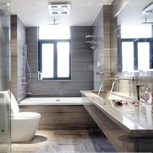 130平现代风格装修卫生间效果图