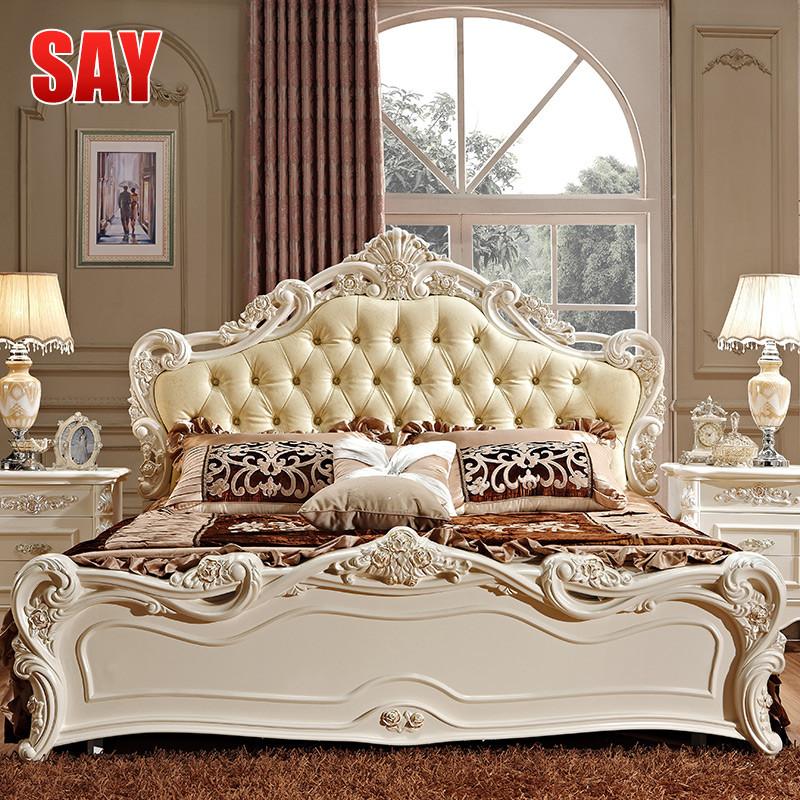 由噻箱框结构组装式架子床欧式雕刻床