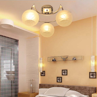 佳馨朵玻璃铝简约现代热弯节能灯吊灯