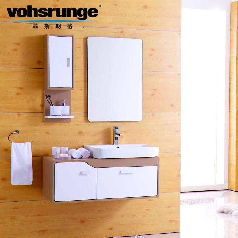 菲斯朗格橡木一体陶瓷盆级北欧宜家浴室柜