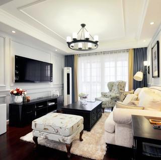 美式兩居室裝修客廳設計圖
