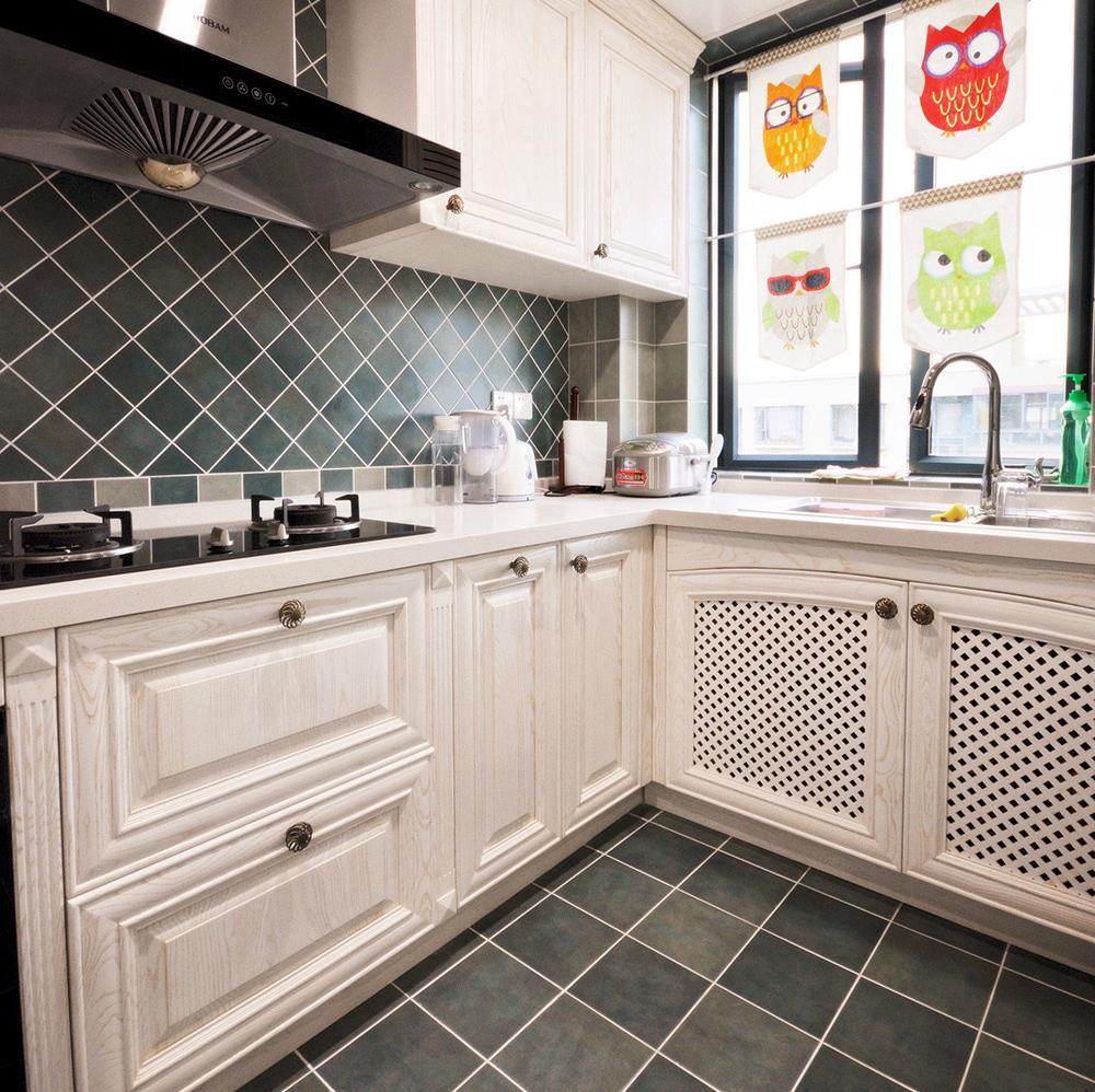 美式两居室装修厨房搭配图