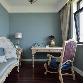 105平美式风格两居装修书房布置图