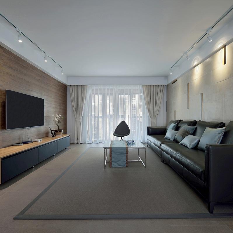 140㎡现代简约家客厅设计图