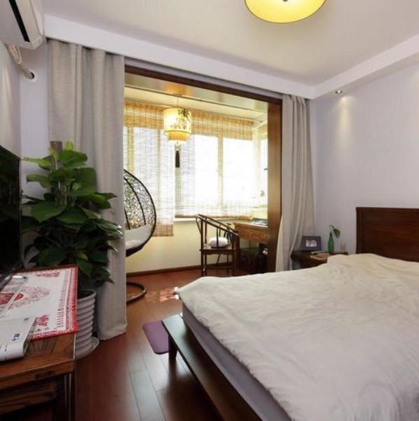 中式东南亚混搭装修卧室布置图