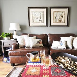 100㎡美式两居室公寓装修图