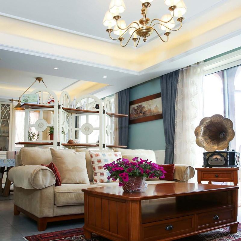 230平简美风格别墅装修客厅搭配图