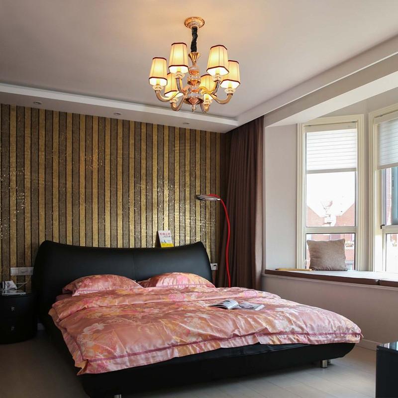 230平简美风格别墅装修卧室搭配图