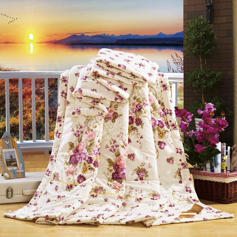 梦巢绗缝空调被夏凉被斜纹普通全棉优等品被子