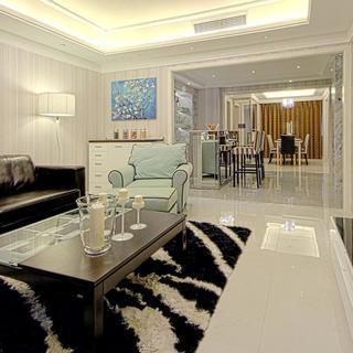现代公寓装修客厅过道