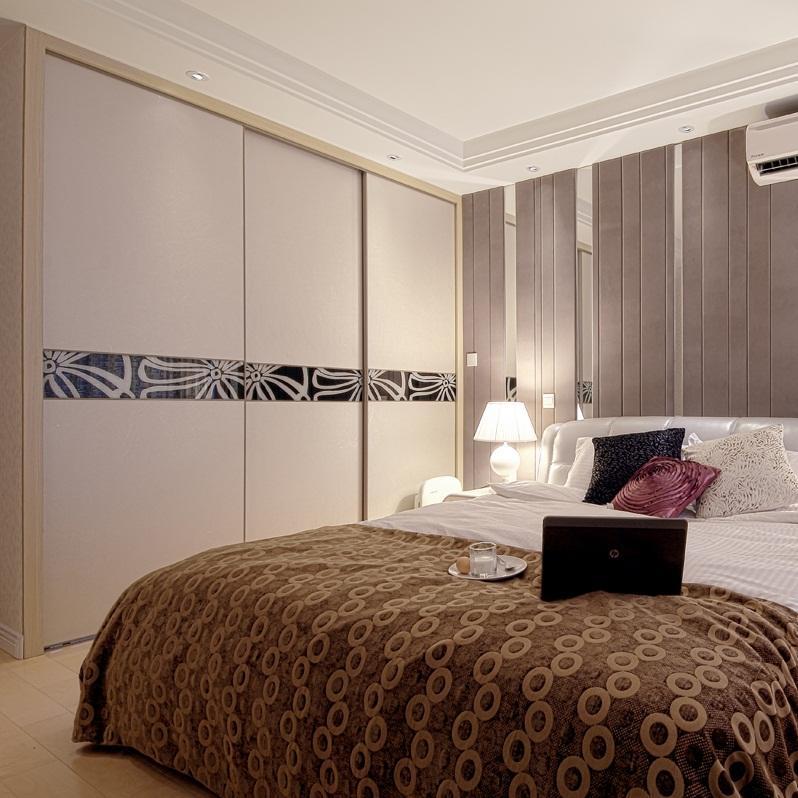 现代公寓装修卧室背景墙图片
