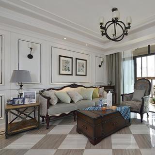 105平美式风格两居装修设计图