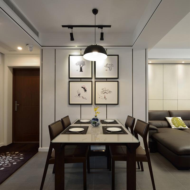 120平现代简约装修餐厅背景墙图片