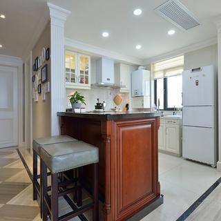 105平美式风格两居装修吧台设计