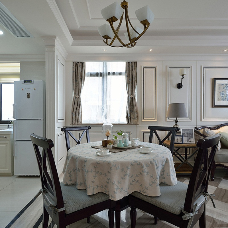 105平美式风格两居装修餐厅搭配图