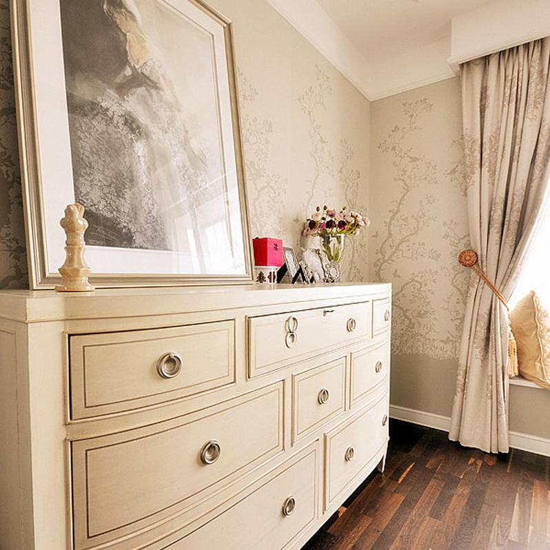 美式混搭风格三居装修边柜设计