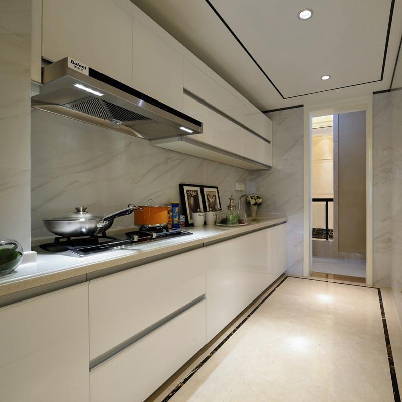 现代简约风格样板间装修厨房效果图