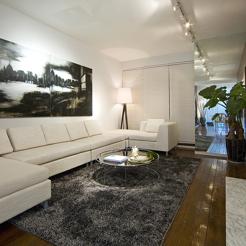 三居室现代中式家客厅搭配图
