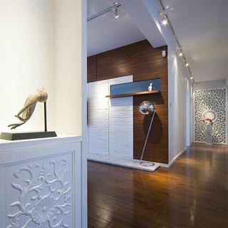 三居室现代中式家玄关柜摆件