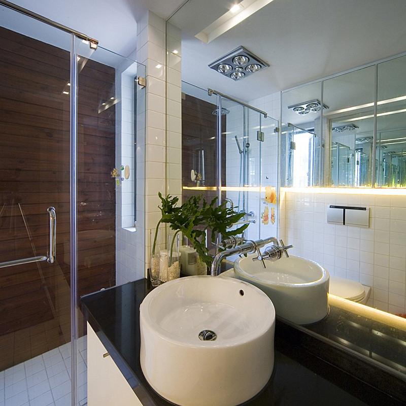 三居室现代中式家洗手台图片