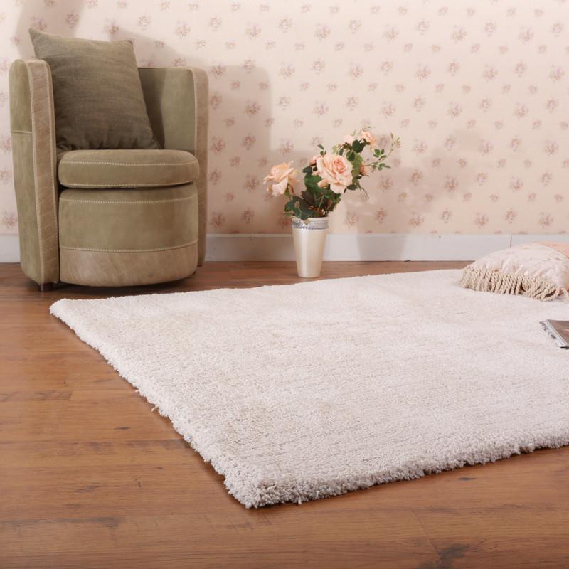 已庚蚕丝北欧宜家纯色长方形日韩机器织造地毯