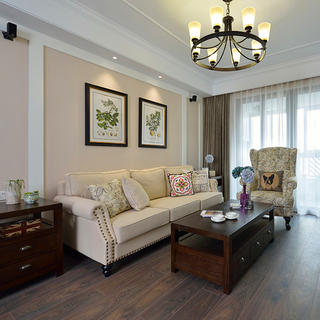 130㎡美式两居室装修设计图
