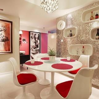 70平两居室装修餐厅搭配图