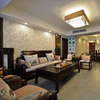 现代中式装修设计沙发背景墙图片